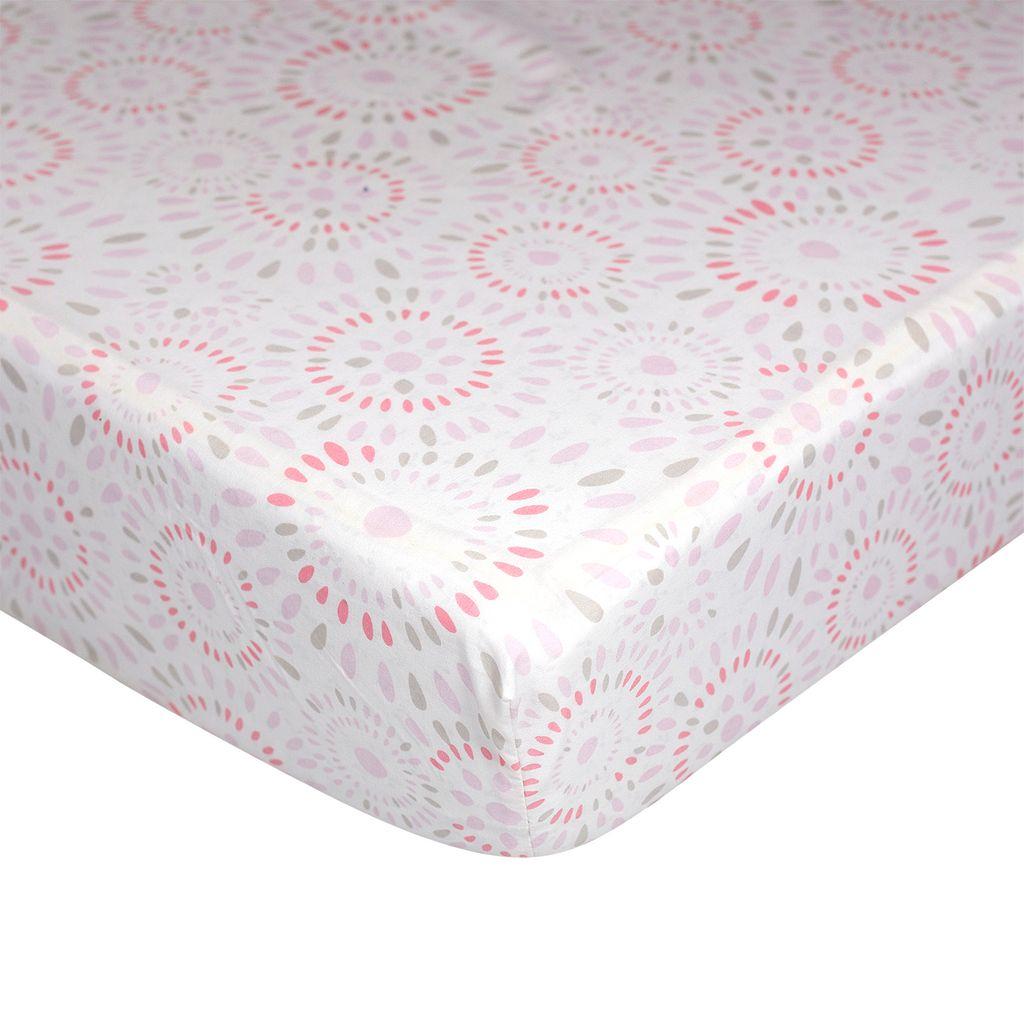 Nurture Basix 2-pc. Pink Confetti Ruffled Dust Ruffle & Dotted Crib Sheet Starter Set