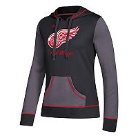 Women's adidas Detroit Red Wings Script Pullover Hoodie