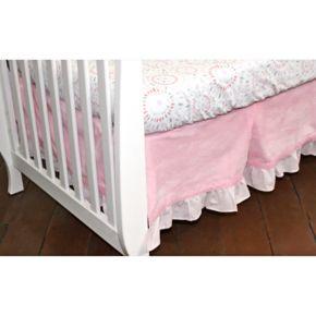 Nurture Pink Velour Dust Ruffle