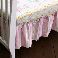 Nurture Pink Stripe Dust Ruffle