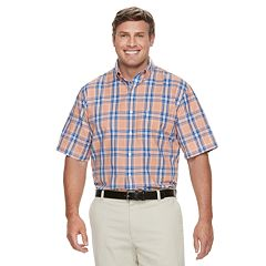 Big & Tall IZOD Breeze Cool FX Regular-Fit Plaid Moisture-Wicking Button-Down Shirt