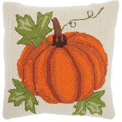 Mina Victory Home for the Holidays Harvest Pumpkin Throw Pillow