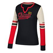 Women's CCM Chicago Blackhawks Notch-Neck Tee
