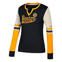 Women's CCM Boston Bruins Notch-Neck Tee