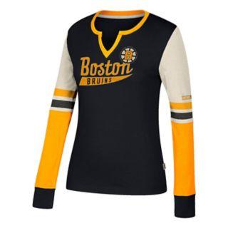 Women's CCM Boston Bruins Notch-Neck Tee