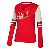 Women's CCM Detroit Red Wings Notch-Neck Tee