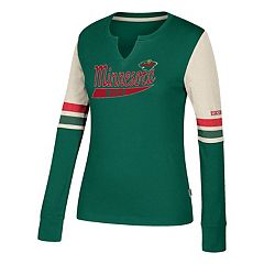 Women's CCM Minnesota Wild Notch-Neck Tee