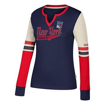 Women's CCM New York Rangers Notch-Neck Tee