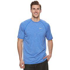 Big & Tall Nike Swim Heathered Hydroguard Tee