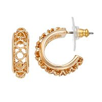 Napier Openwork Hoop Earrings
