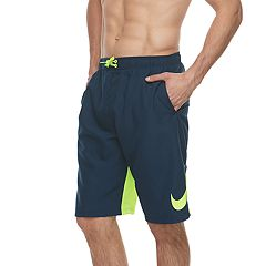 Big & Tall Nike Swim Swoosh Vortex Brushed Microfiber 11-inch Volley Shorts