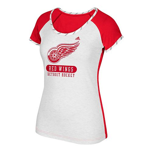 Women's adidas Detroit Red Wings Constructed Raglan Tee