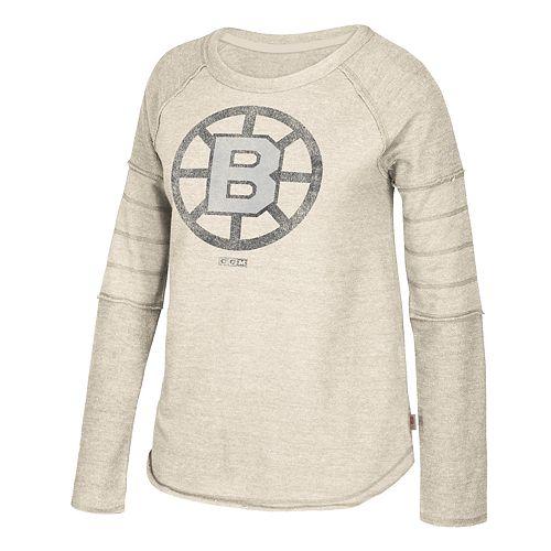 Women's CCM Boston Bruins Finished Raglan Fleece