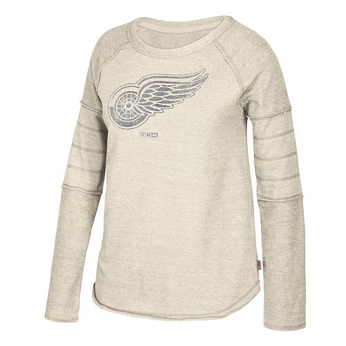 Women's CCM Detroit Red Wings Finished Raglan Fleece