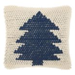 Mina Victory Home for the Holidays Looped Christmas Tree Throw Pillow