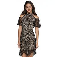 Juniors' Love, Fire Cold Shoulder Lace Dress