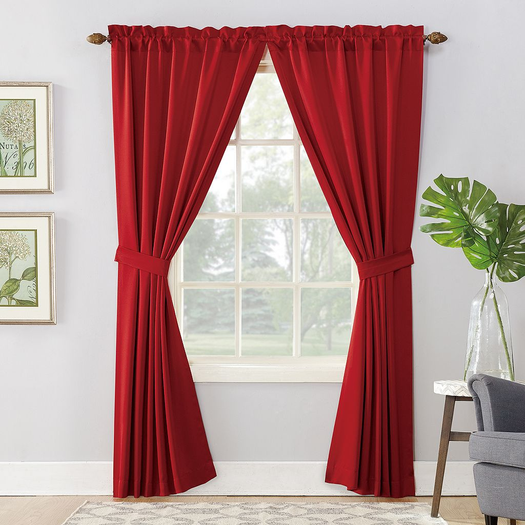 Sun Zero 2-pack Essex Room Darkening Window Curtains