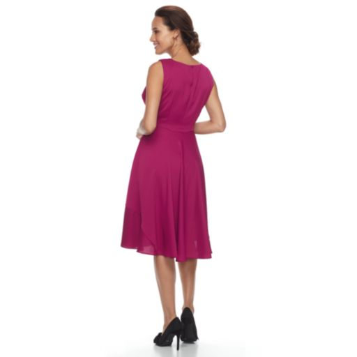 Petite Dana Buchman Paneled Cirlce-Cut Dress