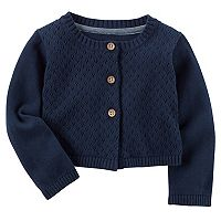 Baby Girl Carter's Solid Cardigan