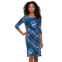 Petite Dana Buchman Twisted Waist Dress