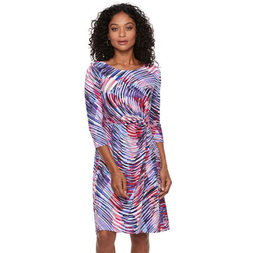 Petite Dana Buchman Twisted Waist Dress