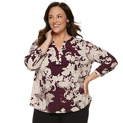 Plus Size Dana Buchman Knit Henley Top