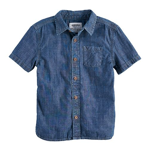 Boys 4-7x SONOMA Goods for Life™ Chambray Button Down Shirt