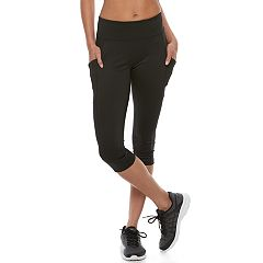Petite Tek Gear® Performance Side Pocket Capri Leggings
