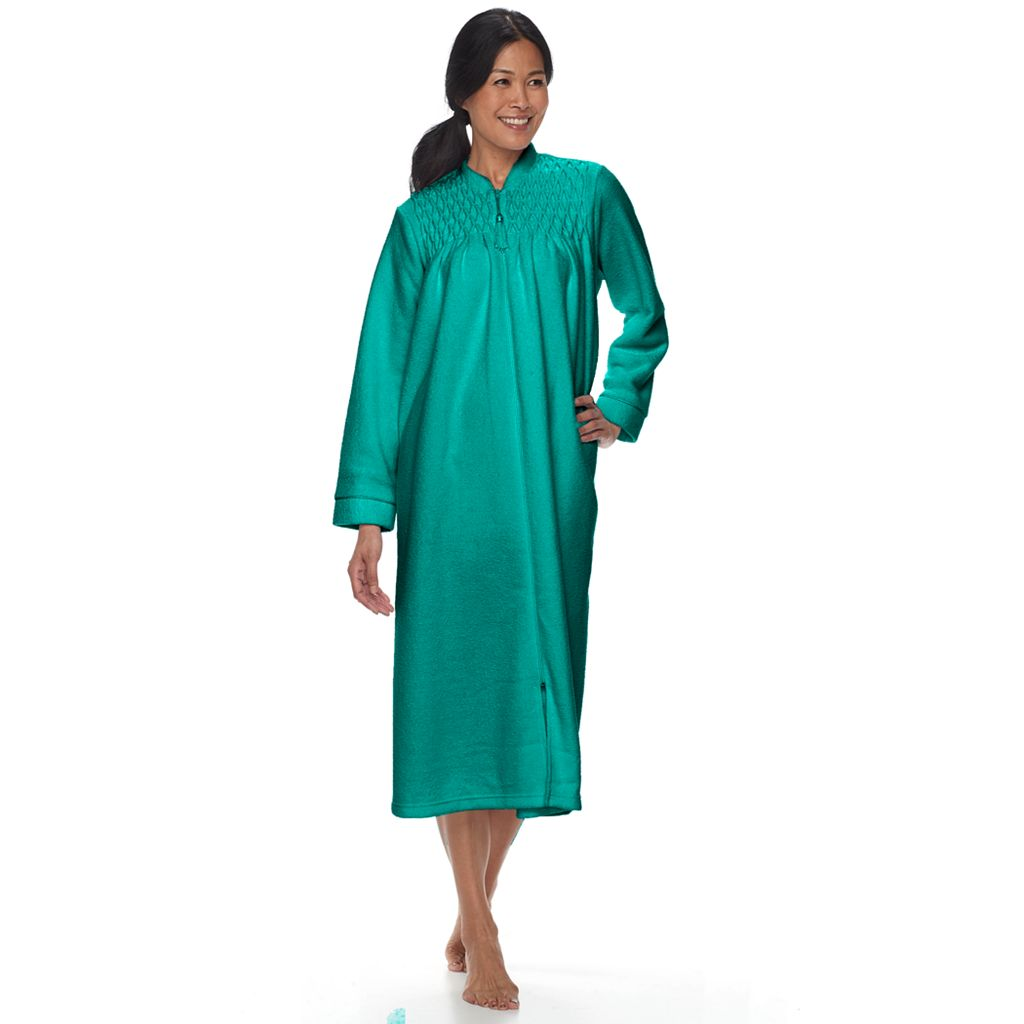 Petite Miss Elaine Essentials Brushed Back Terry Duster Robe