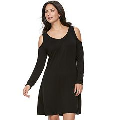 Women's Jennifer Lopez Cold-Shoulder Shift Dress