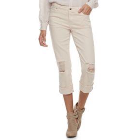 Women's Jennifer Lopez Distressed Capri Jeans
