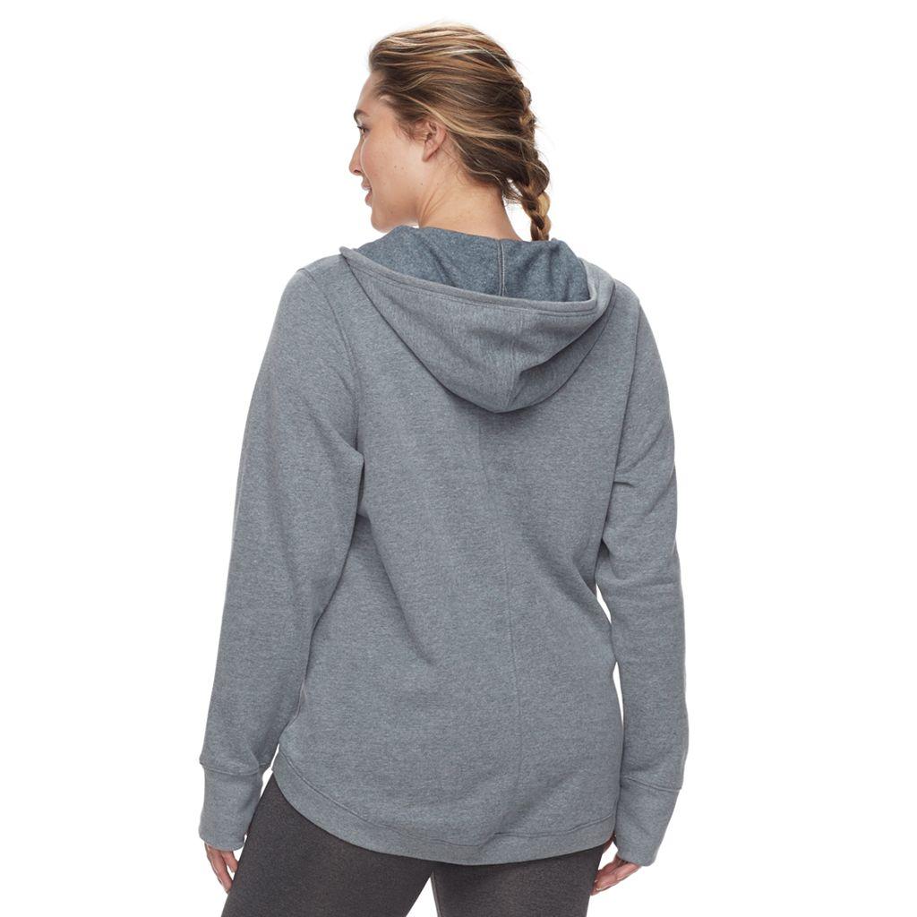 Plus Size Tek Gear® Fleece-Lined V-Neck Hoodie