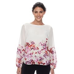 Petite Apt. 9® Balloon-Sleeve Peasant Top