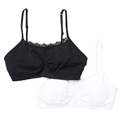 Girls SO® 2-pk. Lace-Trim Cinch Crop Bras