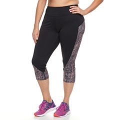 Plus Size Tek Gear® Colorblocked Capri Leggings