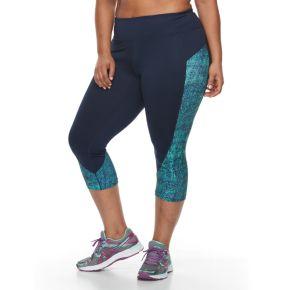 Plus Size Tek Gear® Colorblocked Capri Leggings