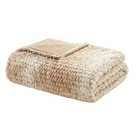Madison Park Anora Luxury Faux Fur Throw