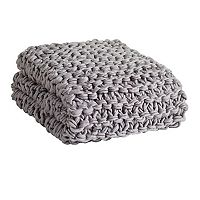 Madison Park Chunky Knit Throw