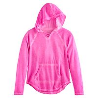 Girls 7-16 SO® Front Lace-Up Neck Hoodie