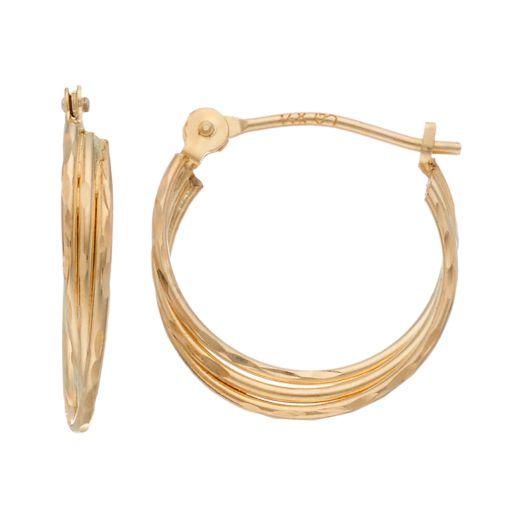 Forever 14K U-Hoop Earrings