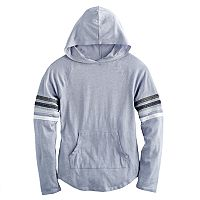 Girls 7-16 SO® Varsity Stripe Hoodie Tee