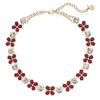 Dana Buchman Red Teardrop Cluster Station Necklace