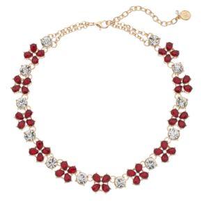 Dana Buchman Red Teardrop Cluster Station Necklace