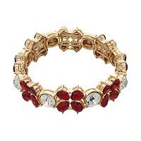 Dana Buchman Red Teardrop Stretch Bracelet