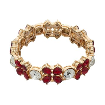 Dana Buchman Red Teardrop Stretch Bracelet