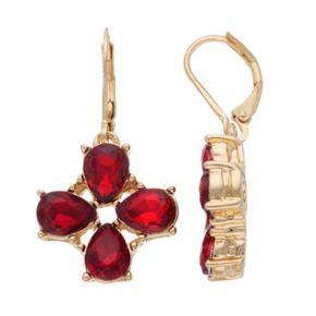 Dana Buchman Red Teardrop Cluster Nickel Free Drop Earrings