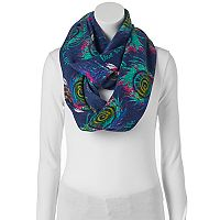 love this life Peacock Infinity Scarf