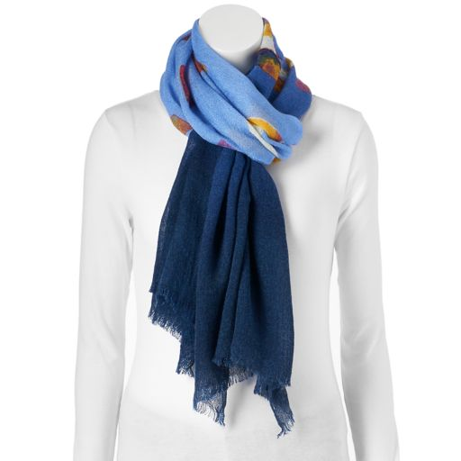 love this life Ombre Logo Oblong Scarf