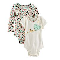 Baby Girl Baby Starters 2 pkGeometric Print &