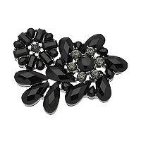 Dana Buchman Black Stone Cluster Flower Pin